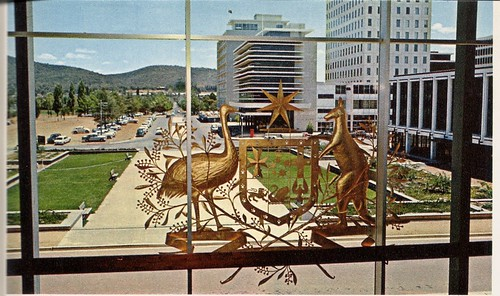 architecture modern 60s cities modernism australia postcards canberra sixties 1960 mcm