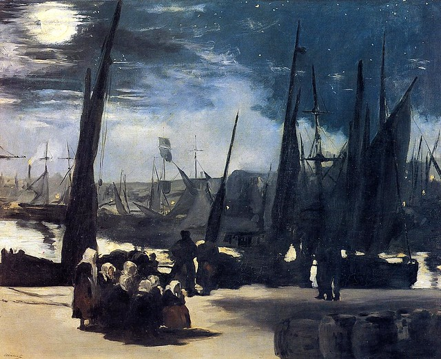 EM 1869 Moonlight over the port of Boulogne - Paris, Musée d'Orsay Ath