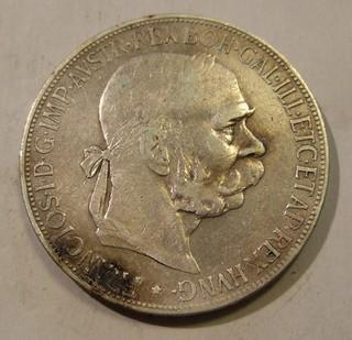 AUSTRIA-HUNGARY, FRANZ-JOSEF I 1900 ---5 CORONA b