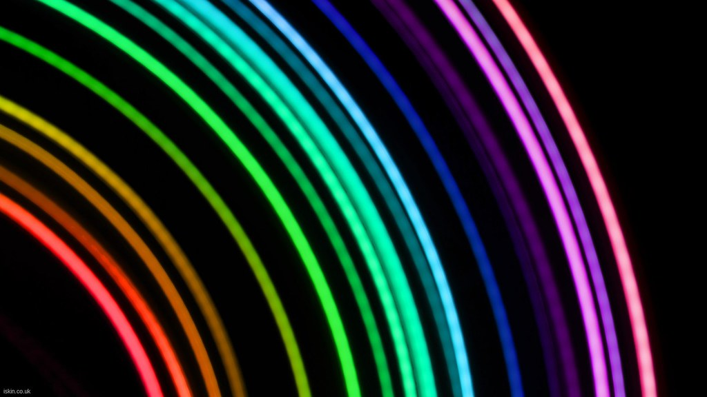 Full Hd Neon Rainbow Desktop Wallpaper 1920x1080 A Long Flickr