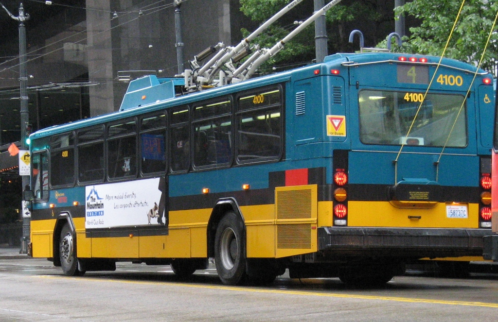 King County Metro 2001 Gillig Phantom Trolley 4100