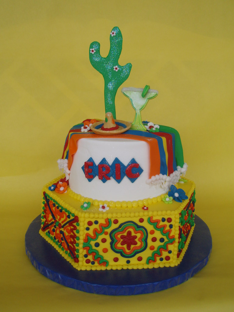 Admirable Mexican Fiesta Birthday Cake Eric Celebrated His 35Th Birt Flickr Birthday Cards Printable Opercafe Filternl