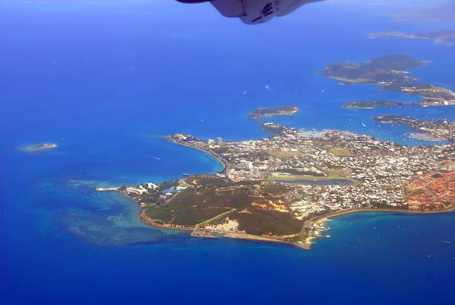 Vol au dessus de Nouméa