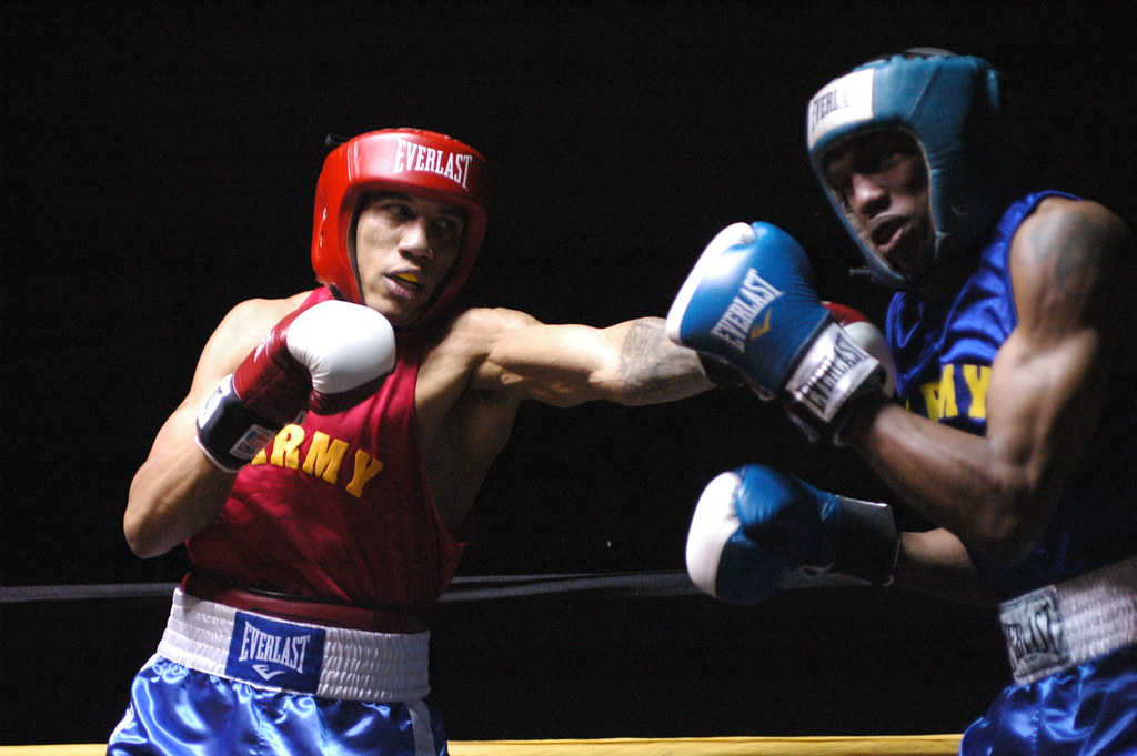 Army Boxing | Pfc. Cooper Johnson, left, World Class Athlete… | Flickr