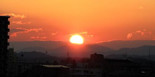 sunset river geotagged miyazaki 夕陽 夕暮れ oyodo 宮崎 大淀川 geo:lat=31903866 geo:lon=131427212