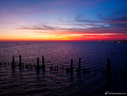 sunset mississippi pier biloxi beaurivage