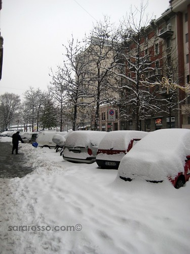 Plowing snow by hand, Milan, Italy, December 22, 2009 | by MsAdventuresinItaly