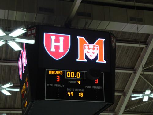 McGill vs. Harvard Hockey on October 23, 2009