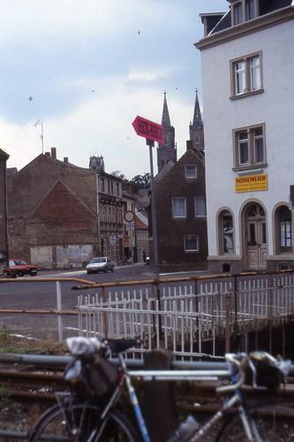 Sex Shop, Oschatz, Sachsen. 1992 | The free market arrives