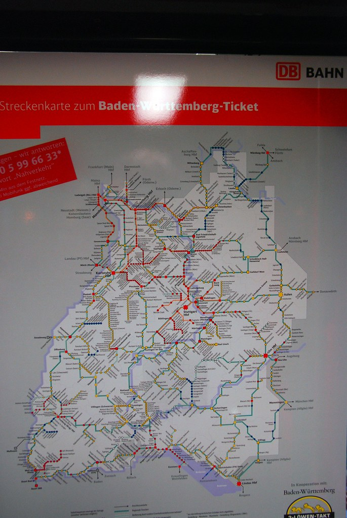 Baden Wurttemberg Karte Db.Streckenkarte Baden Wurttemberg Ticket Ingolf Flickr