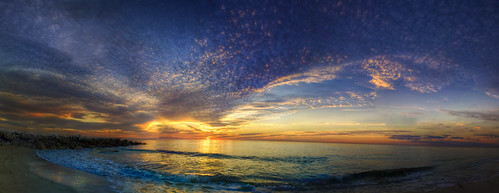 ocean sunset sky panorama beach clouds florida naples hdr gulfcoast naplesflorida miramarbeach colliercounty