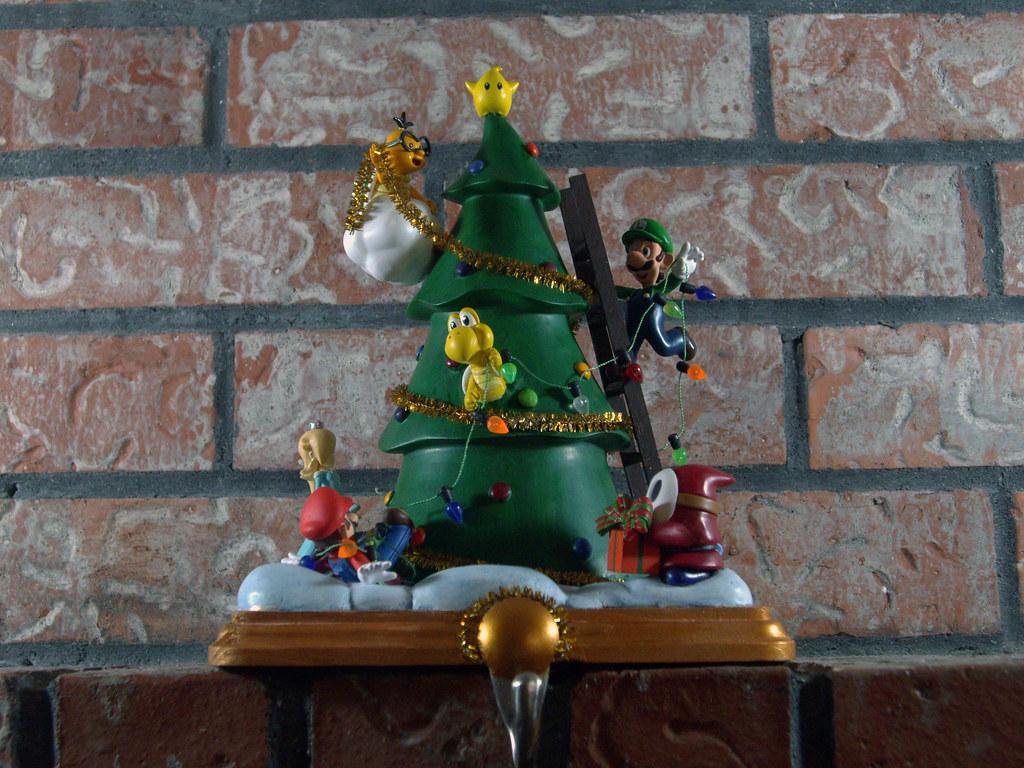 Super Mario Christmas Stocking.Super Mario Bros Themed Custom Stocking Holder I Know Thi