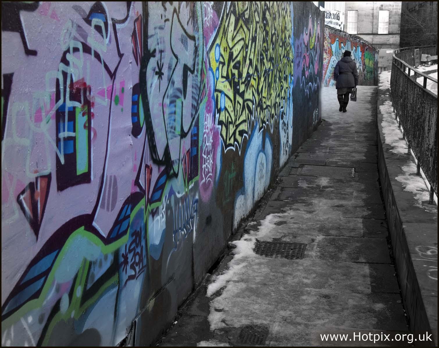 lonely,walk,loneliness,graffitti,grafitti,inner,city,housing,estate,sink,social,deprevation,deprivation,ice,snow,concrete,urban,decay,grey,gray,selective,color,colour,black,white,selctive,colores,tonysmith,tony,smith,dark,disturbia,interesting,place,places,selectivo,couleur,s\u00e9lective,vorgew\u00e4hlte,Farbe,art,arty,graffiti,grafiti,street,edinburgh,scotland,lotian,lothian,lothians,UK,life,edinbrugh,hotpix!,Edinburg,tony smith photography,tdktony,tdk,tdktonysmith,#tonysmithhotpix,edimburgh