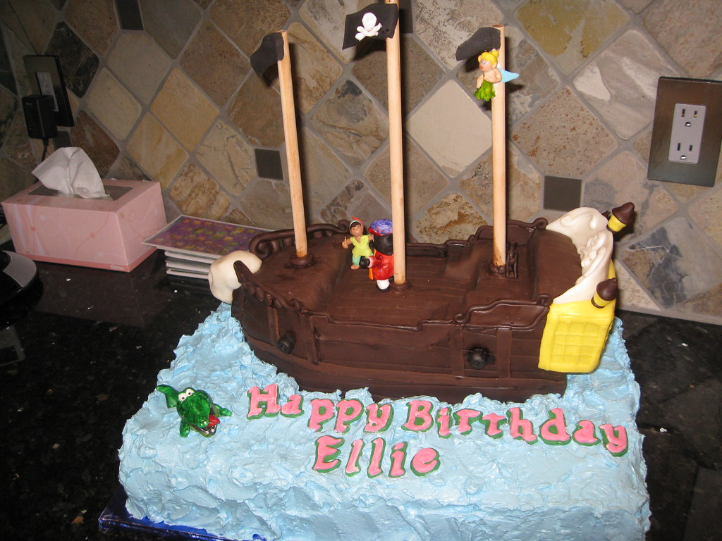 Sensational Jolly Roger Peter Pan Captain Hook Tinkerbell Pirate Shi Flickr Personalised Birthday Cards Arneslily Jamesorg