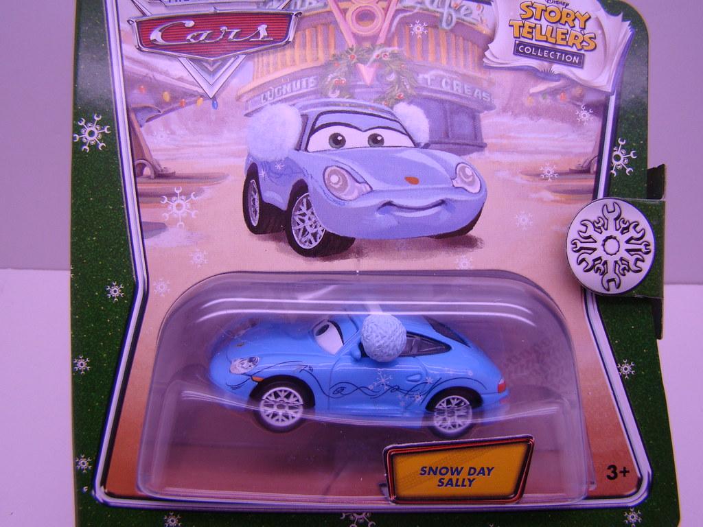 Disney Pixar Cars Christmas Snow Day Sally Rare
