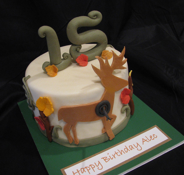Terrific Hunting Birthday Cake This Birthday Cake Was For A 15 Year Flickr Funny Birthday Cards Online Barepcheapnameinfo