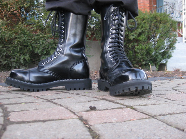 Spitshined Steel Ranger Boots 15 Hole