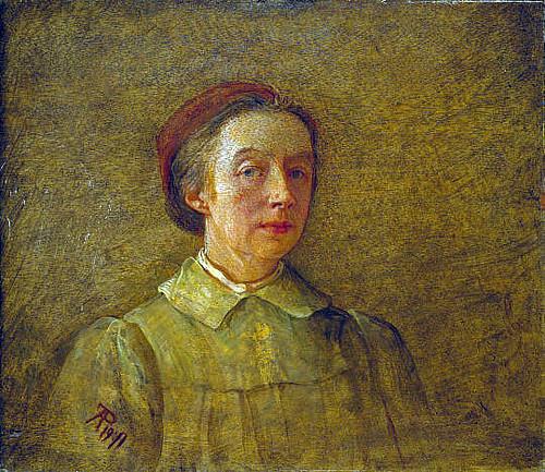 Phoebe Anna Traquair, 1852 - 1936. Artist (Self-portrait). National Galleries of Scotland