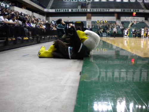 Swoop's Adventure at the EMU Men's Basketball Game vs. Toledo
