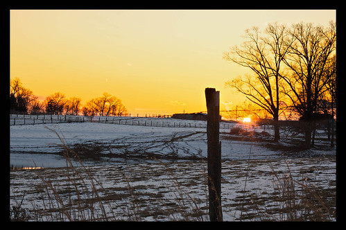 sunset snow weather canon farm xsi 450d canon450d canonxsi