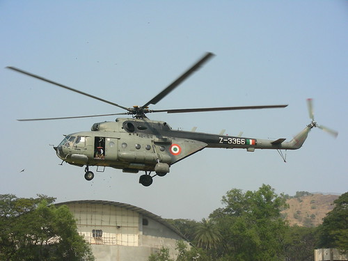 IAF helicopter as part of NDRF demo | by Vinay Bavdekar
