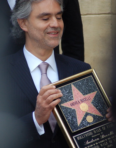 Andrea Bocelli with STAR Plaque | by Sharon Graphics