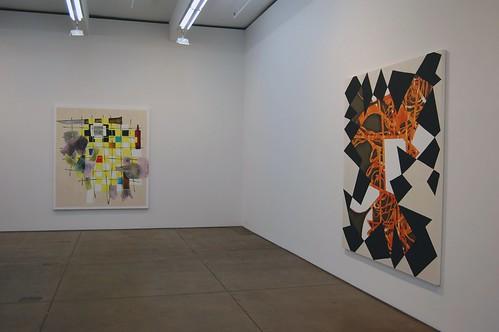Installation view of Charline von Heyl at Friedrich Petzel Gallery   by 16 Miles of String