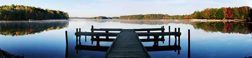 autumn panorama lake reflection fall pier nc northcarolina waxhaw canecreekpark ghholt cpmg1109sa banoramicview