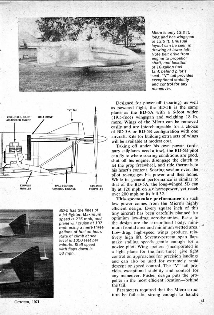 October 1971 Science and Mechanics BD-5,page 3 | David Rider