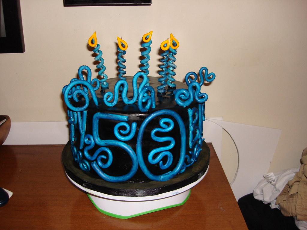 Brilliant Male 50Th Birthday Cake Cakefacer Flickr Personalised Birthday Cards Veneteletsinfo