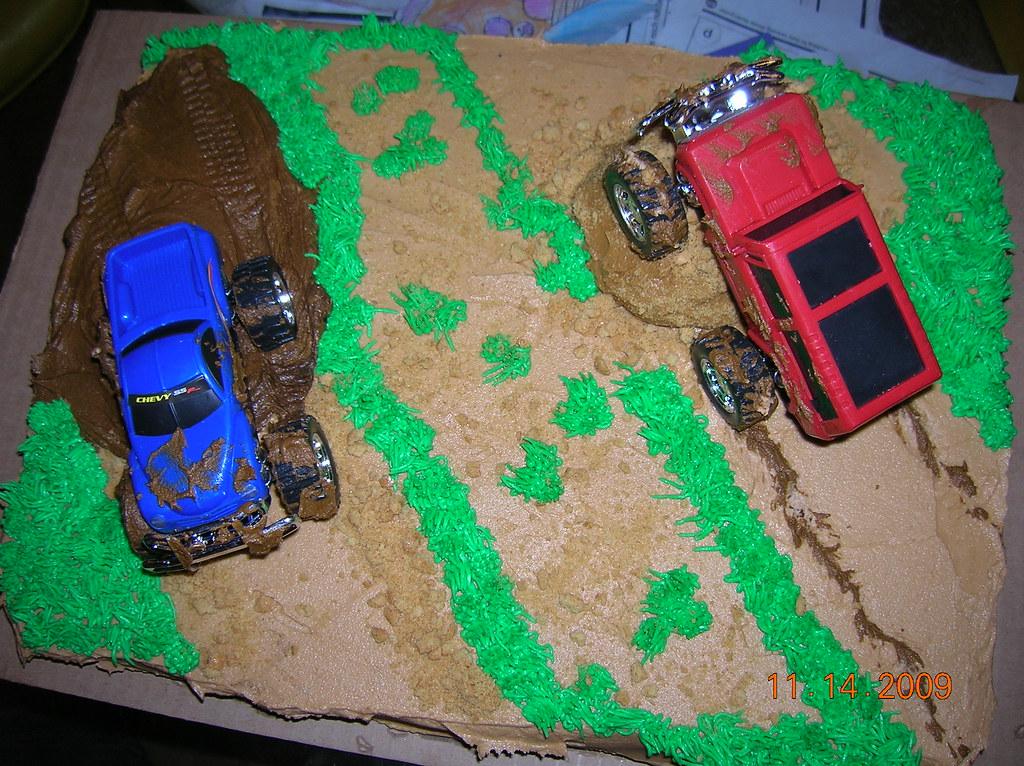 Super Truck Mudding Cake Pam And Patsy Borden Flickr Funny Birthday Cards Online Aboleapandamsfinfo