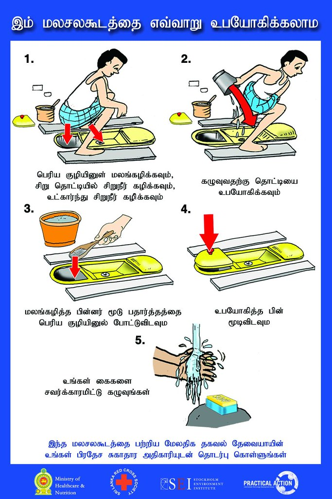 Squatting UDDT (Tamil language) | Posters produced by SEI  F
