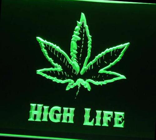033 High Life Neon Sign Weed Marijuana Leaf Light Sign Flickr