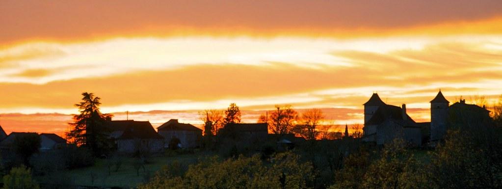 Sunset near Cahors - 2