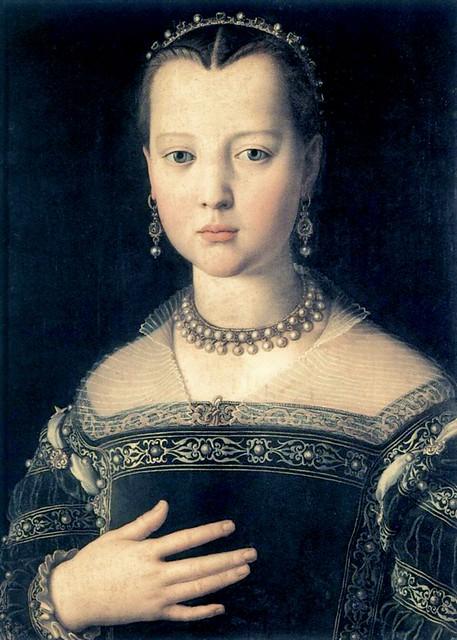 Agnolo Bronzino - Maria di Cosimo I de' Medici - Firenze, Uffizi