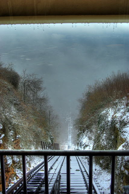 Lookout Mountain Incline Railway, Top looking down, Chattanooga, TN