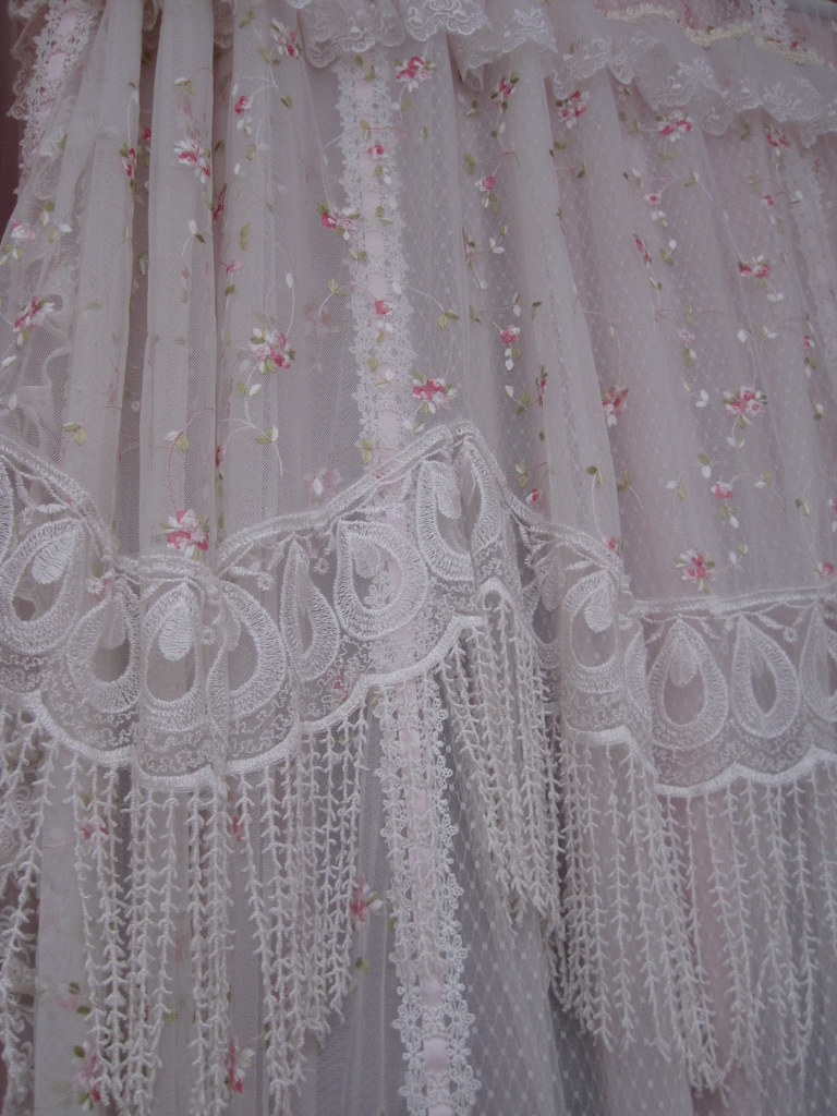 Rose Amp Lace Curtains Beautiful Lace Ribbons And