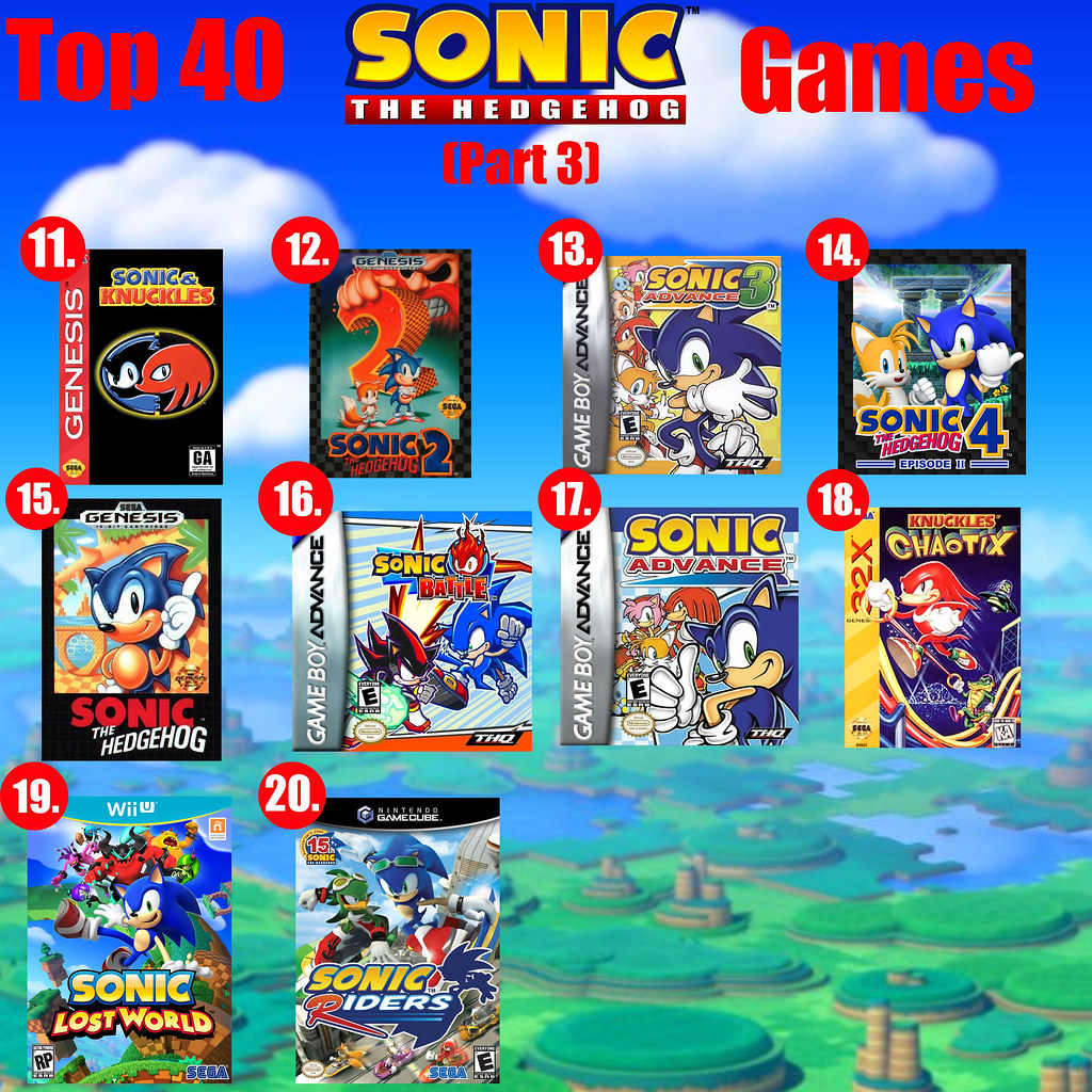Top 40 Sonic the Hedgehog Games PART 3