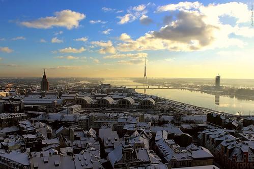 panorama vista paesaggio neve natale natalizio landscape view snow christmas white riga latvia latvja latvija lettonia wow winter frozen balticsea city