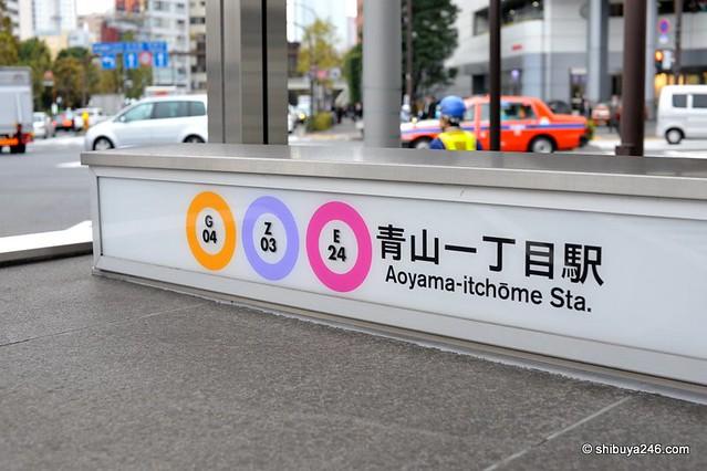 Aoyama Itchome On Subway Map.Aoyama Autumn I Traveled By Subway To Aoyama Itchome Stati Flickr