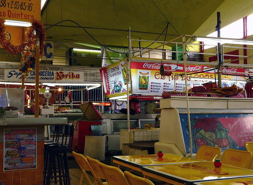 K15 market eating area, Puebla