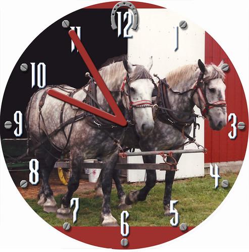 Horse Duo - George and Martha Clock | by customclockface