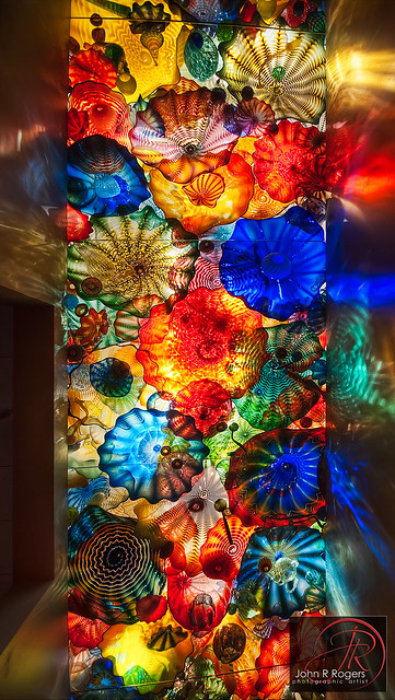 Dale Chihuly Persian Seaform Ceiling, OKC
