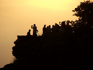 People wait for Sunset
