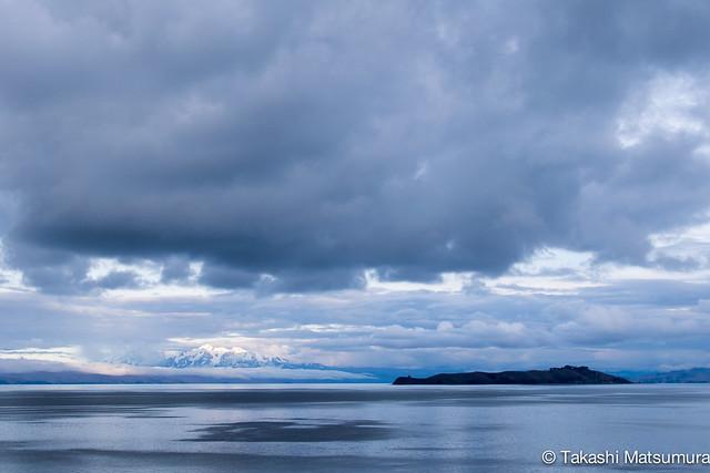 Clouds over Lake Titicaca