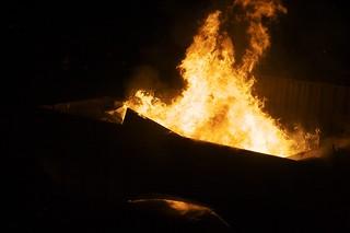 Fire in Dumpster | by benwatts