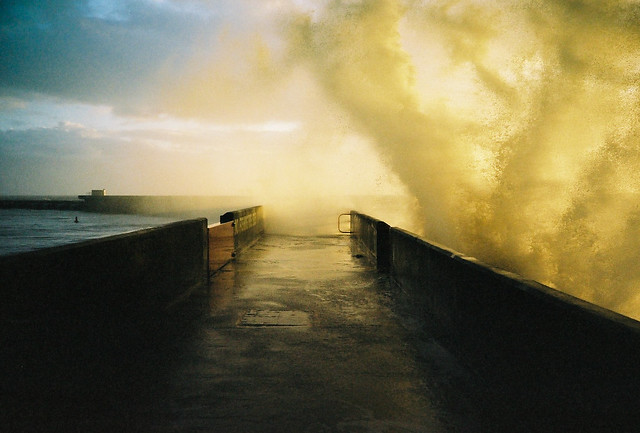 Brighton Marina wall