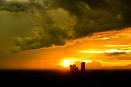 sunset sky cloud sun dark