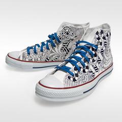 65236689e94d94 Converse - Custom -  sketch  high tops