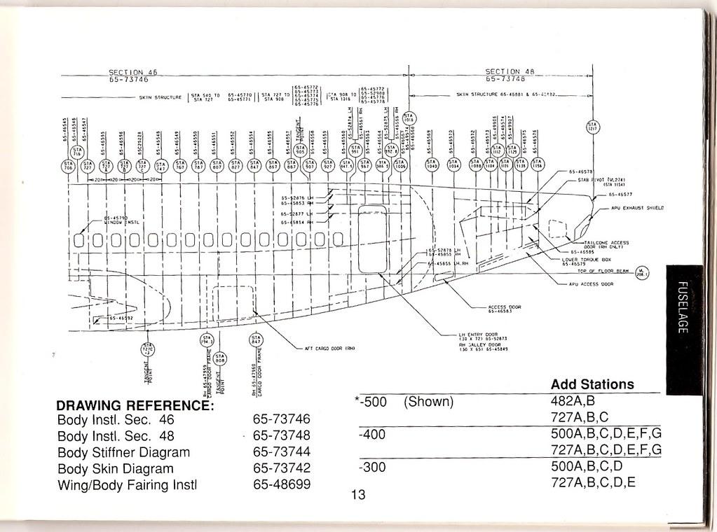 boeing 737-500 (aka 735) aft fuselage station diagram | by wbaiv